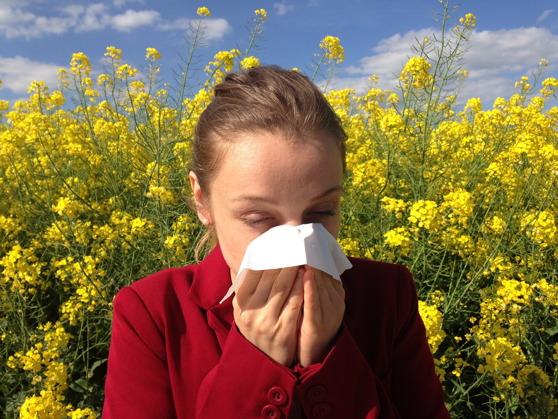 girl cough because of allergy