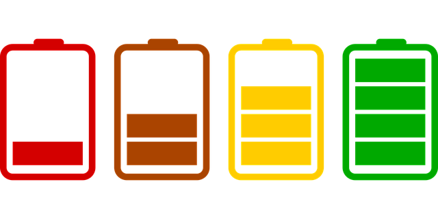 batteries loading icons set flat