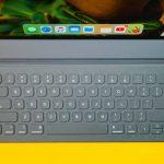 Photo of a smart keyboard near an ipad